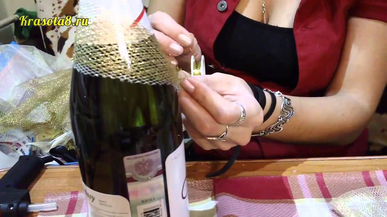 Украшение на шампанское