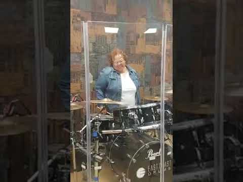 "66 year old drummer fulfills her dream to play with All Female Band "" Band Of Roses"""