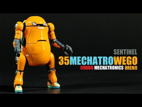 Sentinel 35 Mechatro Wego Orenji Orange Chubu Mechatonics robot figure review
