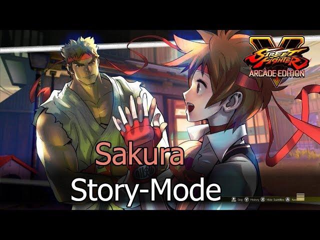 Street Fighter V Arcade Edition - Sakura Story Mode (Full)