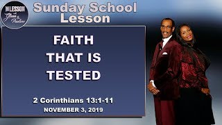 The Lesson Sunday School | Faith That is Tested | NOVEMBER 3, 2019