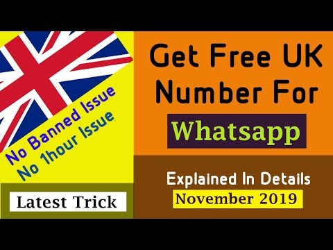 Get Free UK Number For Whatsapp | Create Whatsapp Account Without Phone Number & Banned Number