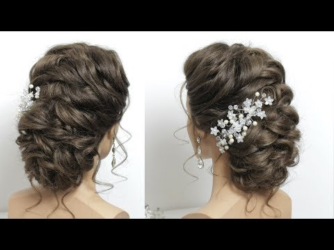 Soft Wedding Prom Updo For Long Hair