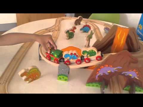 Bigjigs Dinosaur Wooden Train Set Play Patrol Toys Reveal and Review ...