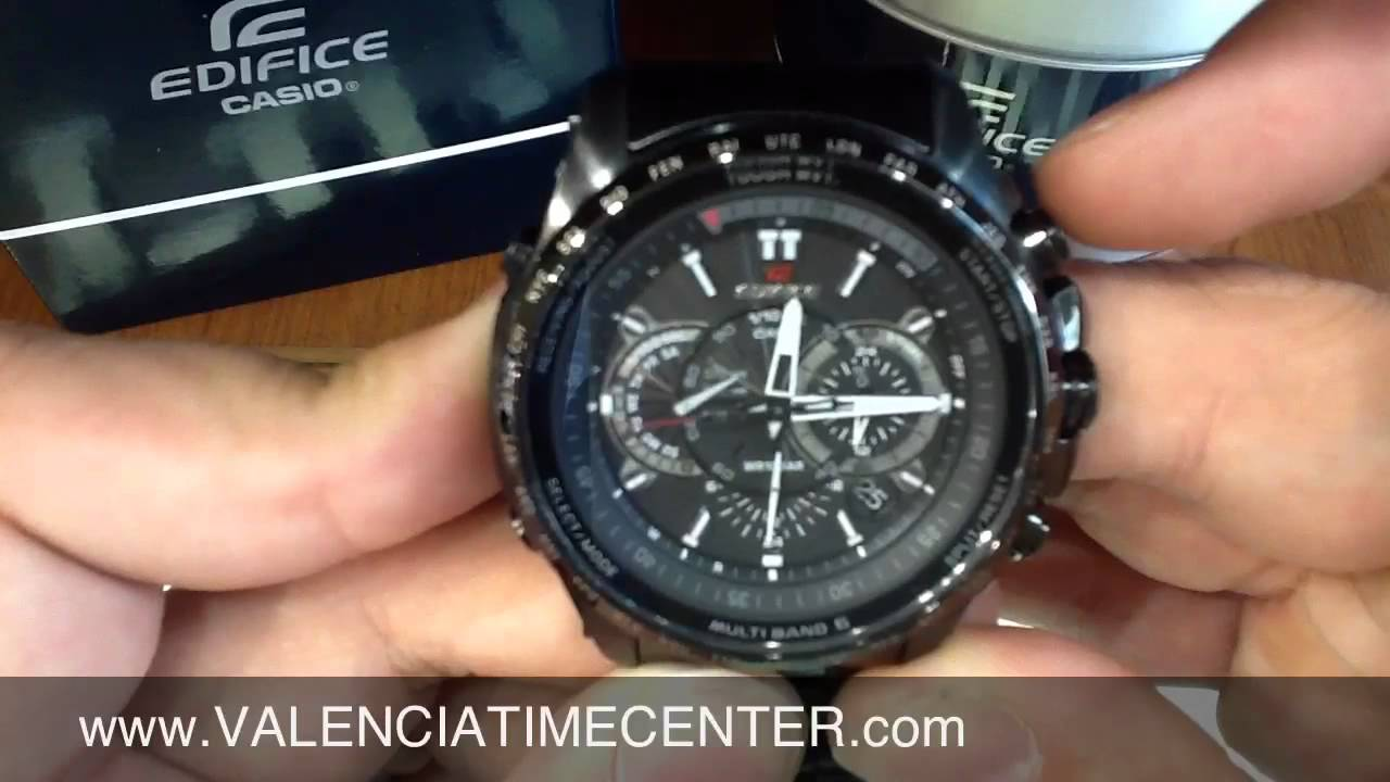 ebb20abe3bdc Casio Edifice EQWT720DC-1A How to Set and Review by Valencia Time Center -  YouTube