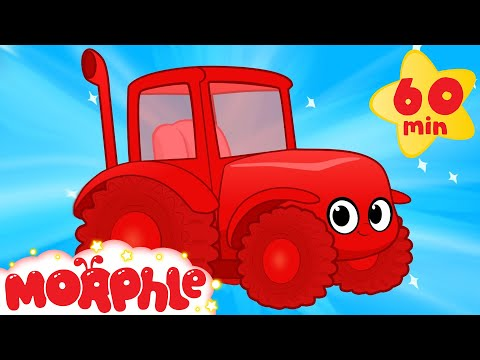 Thumbnail: My Red Tractor's Farm Day ( +1 hour My Magic Pet Morphle kids videos compilation)