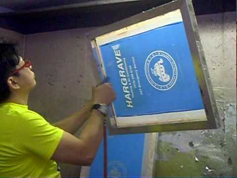 T Shirts Screen Printing process   YouTube T Shirts Screen Printing process