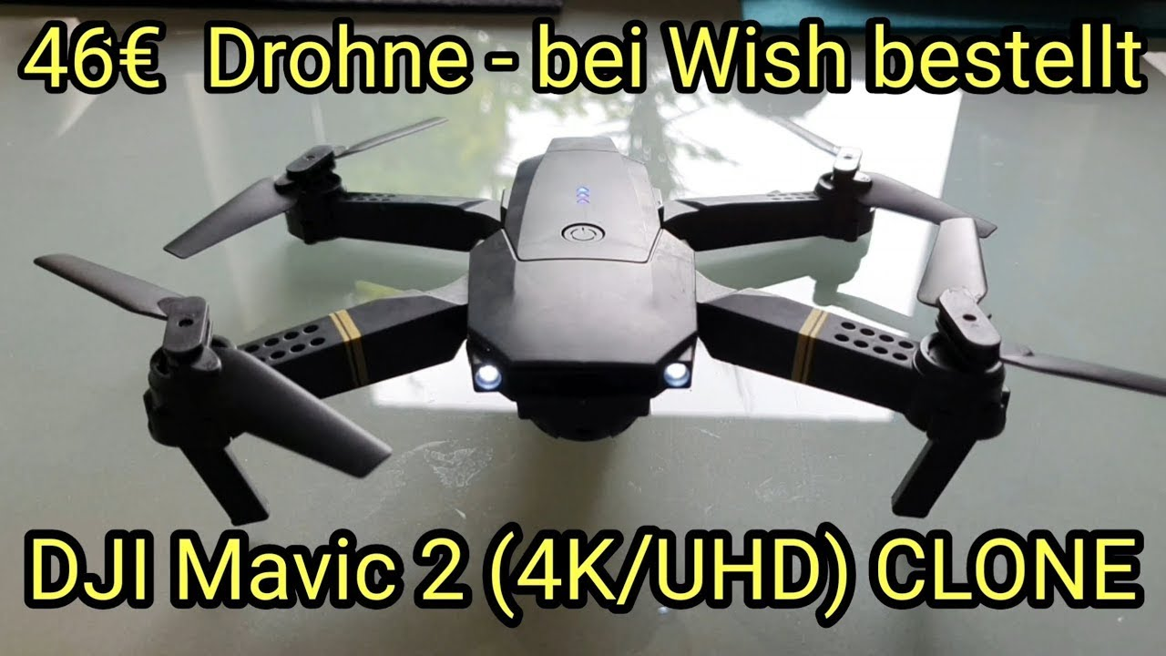 China Drohne für 46€ - DJI Mavic 2 Clone von Wish - 4K/UHD - Version -- Eachine E58