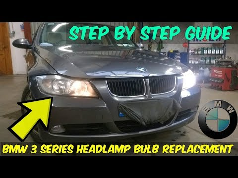 BMW 320d Headlamp Bulb Replacement - How To