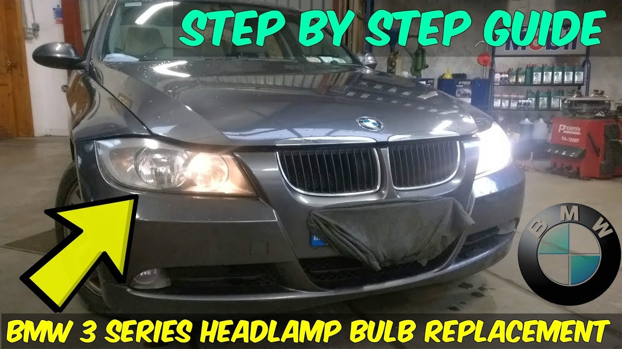 Bmw 320d Headlamp Bulb Replacement How To Youtube