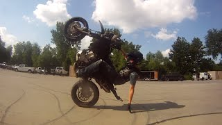 Best of Stunts on the WR250X