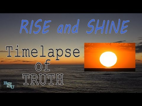 Flat Earth View Sunrise Time Lapse Reveals The Truth thumbnail
