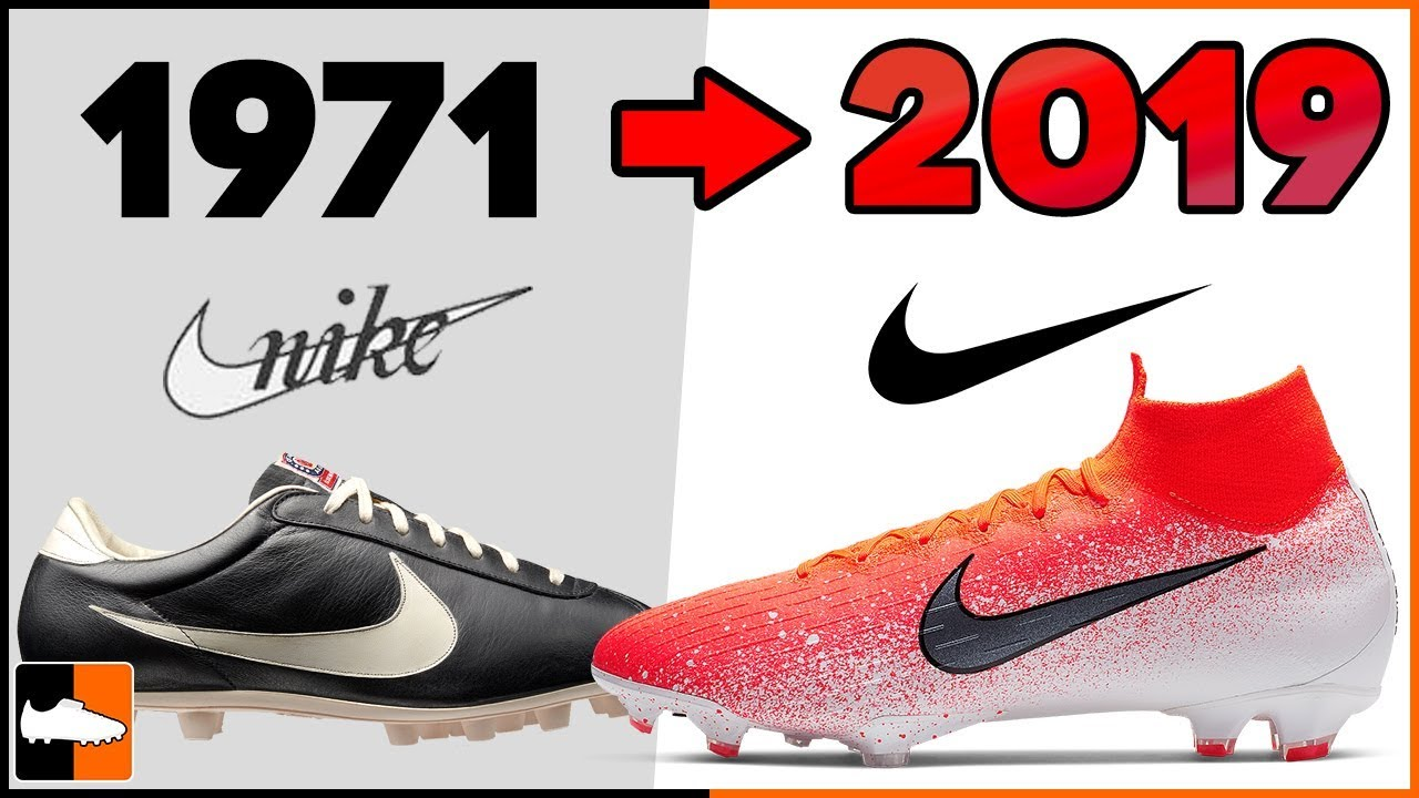 Aparador Rodeo Pensar  Evolution of Nike Football Boots! Soccer Cleat History - YouTube