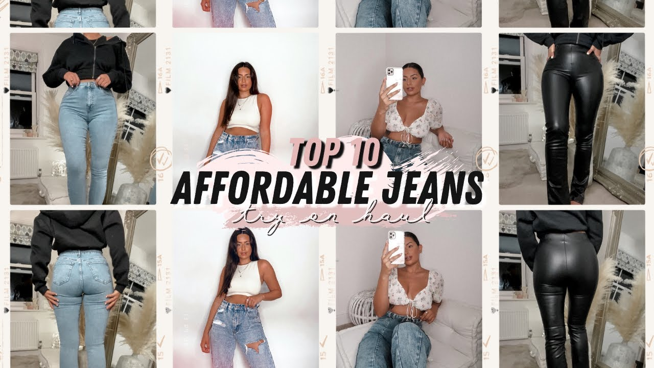 MY TOP 10 AFFORDABLE JEANS TRY ON HAUL · * MIDSIZE * SMALL WAIST WITH A BOOTY hehe | Emily Philpott