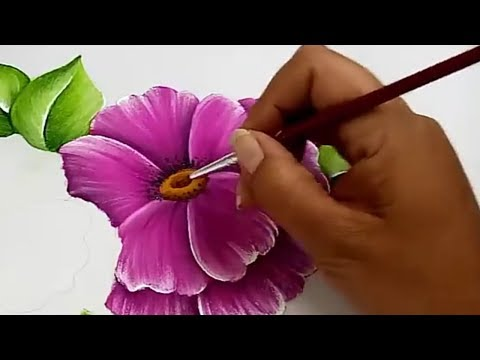 Pintura Textil Pintura En Tela Como Pintar Flores Fácil