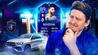INSANE VALUE SBC CARD?! 89 TOTGS BENZEMA PLAYER REVIEW! FIFA 20 Ultimate Team