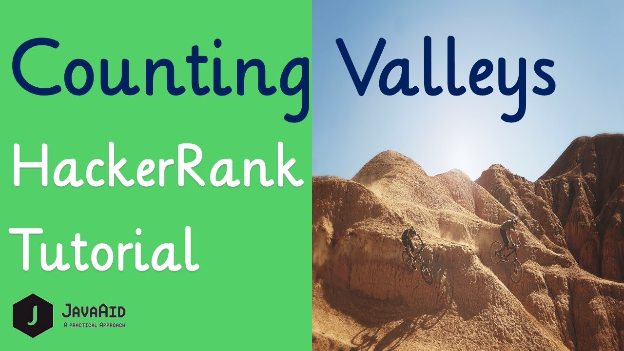 How To Solve Counting Valleys HackerRank Problem