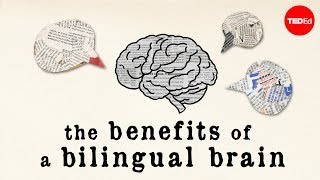 The benefits of a bilingual brain - Mia Nacamulli(View full lesson: http://ed.ted.com/lessons/how-speaking-multiple-languages-benefits-the-brain-mia-nacamulli It's obvious that knowing more than one language ..., 2015-06-23T15:07:10.000Z)