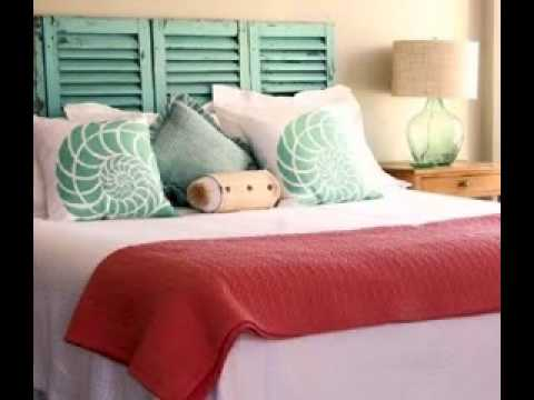 DIY Beach themed bedroom decorating ideas - YouTube