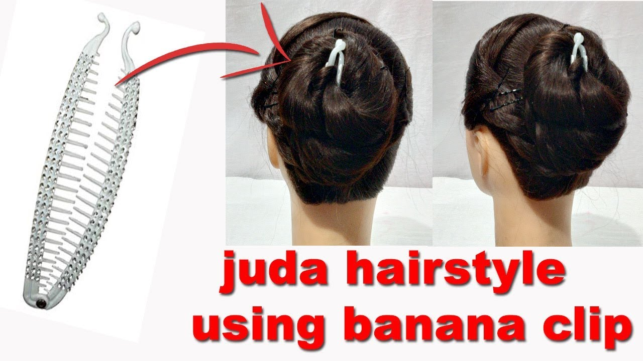 Easy Juda Hairstyle Using Banana Clip Everyday Juda Hairstyles