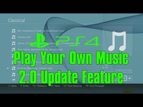 How To Play Your Own Music On PS4 During Gameplay PS4 2.0 Update Masamune PS4 tip