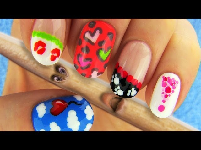 6 Nail Art Designs Nail Tutorial Using Toothpick As A Dotting Tool