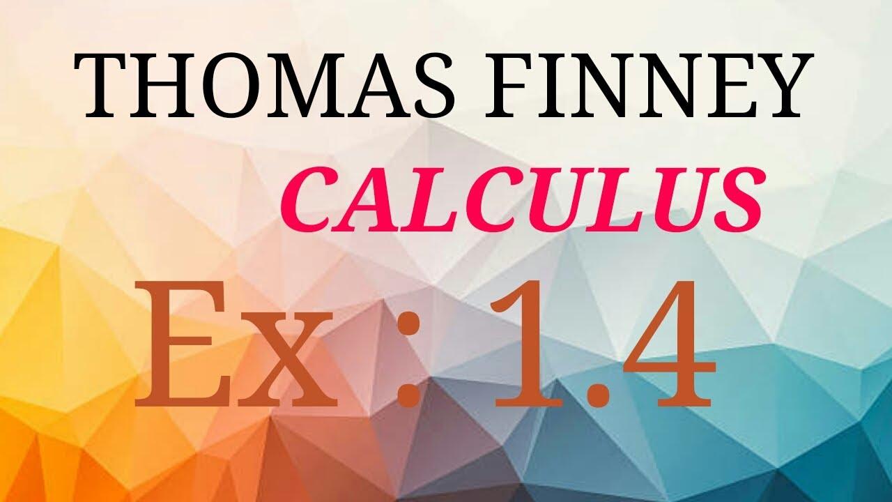 Thomas Finney Calculus Book