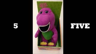 BARNEY Plush Toy Singing I Love You! Learn numbers 1 - 10! (Repeat 10x)