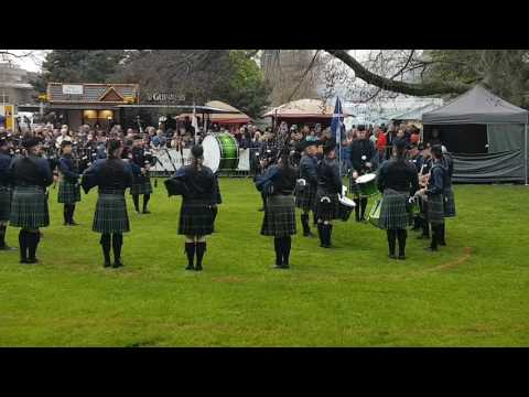 The Owl Town Pipe & Drum Band bei der Grade 4 Competition in Peine 2017