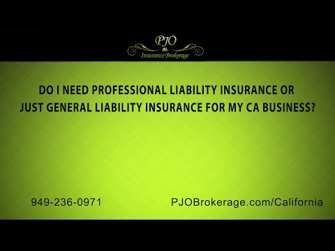 Professional Liability Insurance vs General Liability Insurance | PJO Insurance Brokerage
