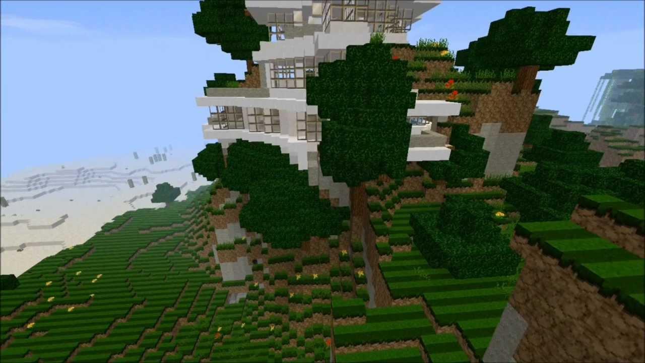 Mountainside Modern Home Minecraft Build