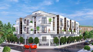 Thiết kế nhà biệt thự liền kề  dự án Bình Chánh - TP. Hồ Chí Minh