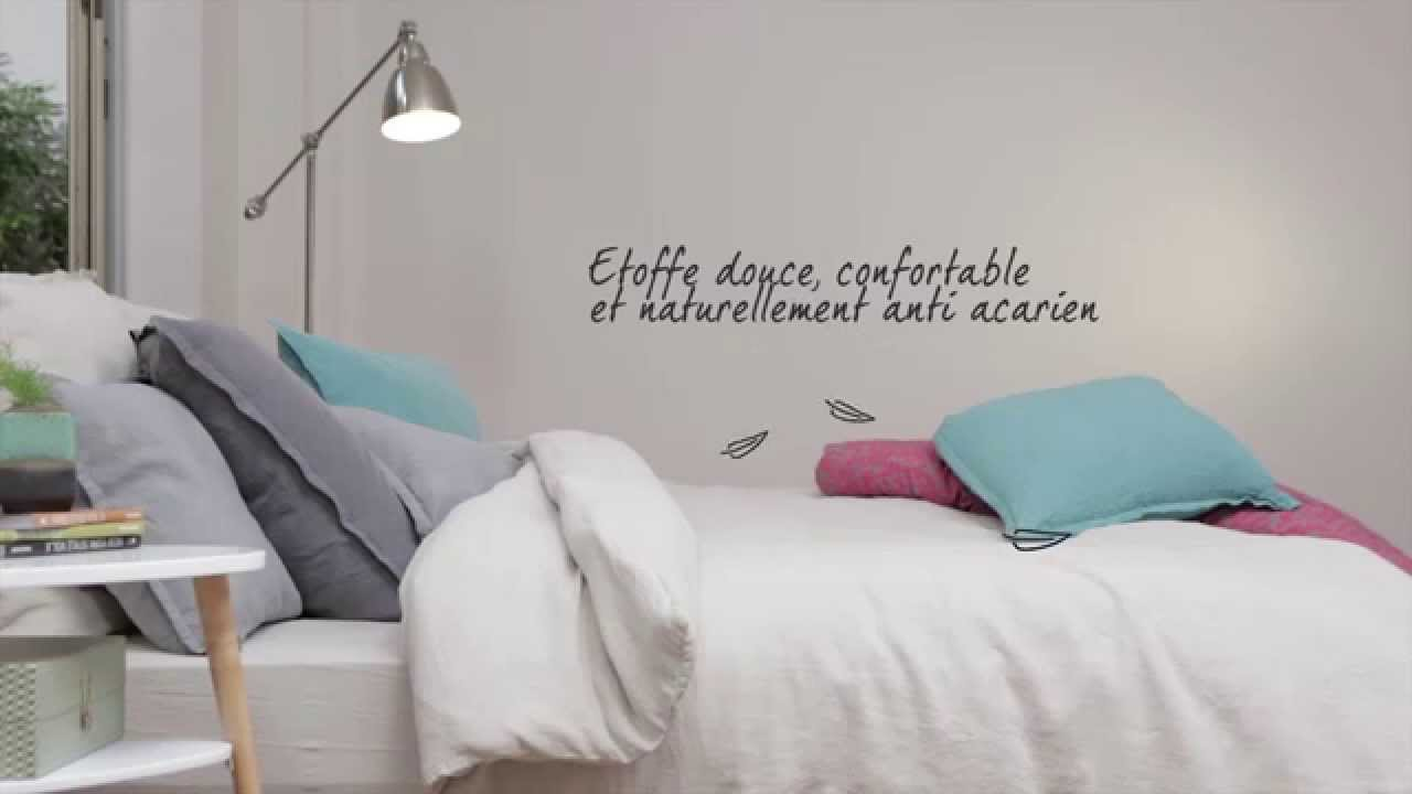 linge de lit blanc cerise lin lav youtube. Black Bedroom Furniture Sets. Home Design Ideas