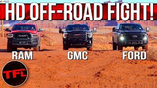 Download Only One Rules: Ford F-250 Tremor vs RAM Power Wagon vs GMC Sierra HD AT4 Ultimate Off-Road Test! Mp3 and Videos