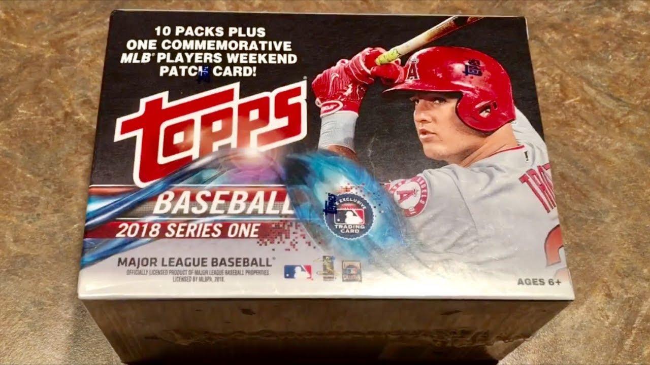 2018 Topps Baseball Cards Blaster Box Break Opening Packs Series 1