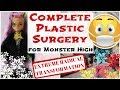 PLASTIC SURGERY FOR MONSTER HIGH DOLLS / Face Remolding, Head Shrinking, Changing Skin Color