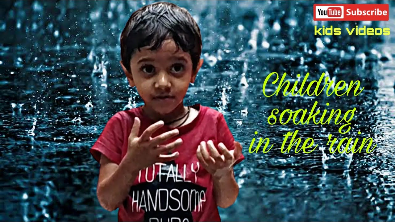 Rain rain go away kids song | Children soaking in the rain | बारिश में भीगते हुए बच्चे | kids videos