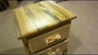 Amish Montana Log 2 Drawer Nightstand