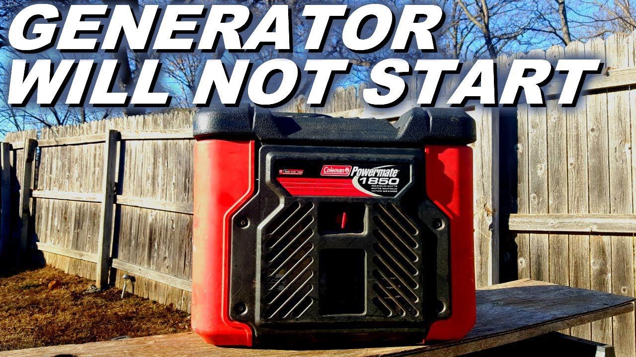 Why My Generator Won T Start Or Run