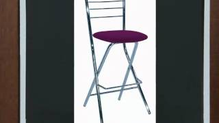 Folding Barstools - With Coloured Seats