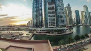 JLT Дубай вид из окна таймлапс 4k видео