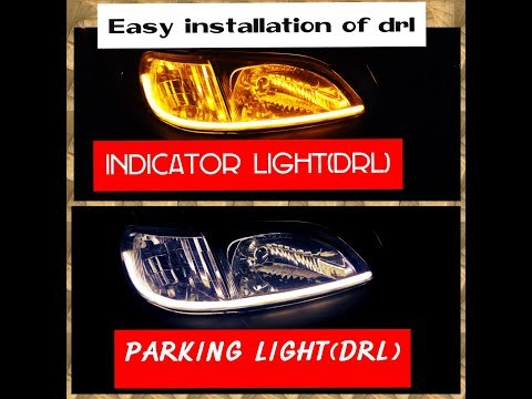 How To Install Daytime Running Lights(DRL) In Headlights Of Any Car/honda City Type-2/