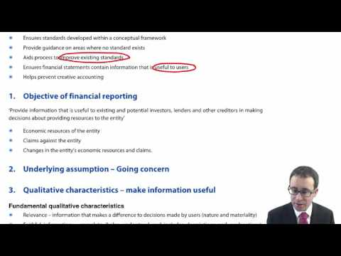 ACCA P2 IASB Conceptual Framework - Objective of financial reporting