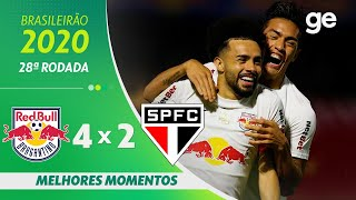 BRAGANTINO 4 X 2 SÃO PAULO | MELHORES MOMENTOS | 28ª RODADA BRASILEIRÃO 2020 | ge.globo