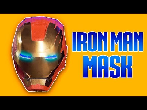 HOW to MAKE: IRON MAN HELMET with CARDBOARD | Creative Minds