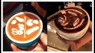 Coffee Latte Art | How to Make Latte Art Without an Espresso Machine | Perfect  Coffee