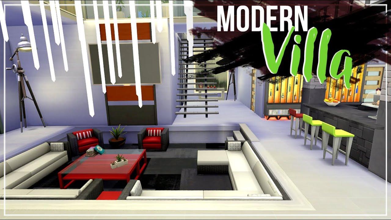 Sims 4 Interior Design MODERN VILLA W Katzilla Gaming YouTube