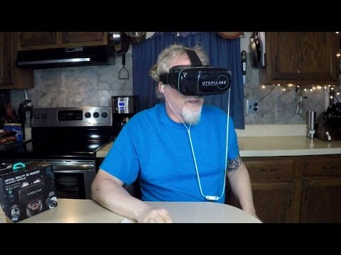 360 Degree Virtual Realty Headset Review UnBoxing