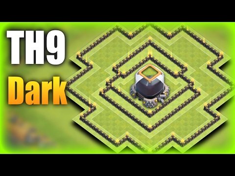 TH9 (Town Hall 9) Dark Farming Base 2017 | Protect TH & De Storage + Replays | Clash Of Clans