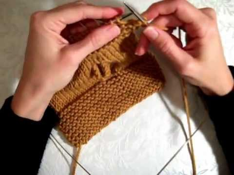 For the Beginner Knitter --- Super Easy Fingerless Mittens (with pattern info...